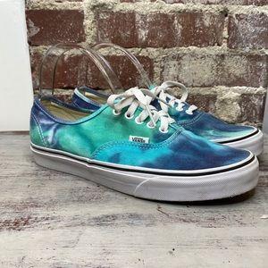Vans Tye Dye Green Blue Sneaker Shoes Women 10